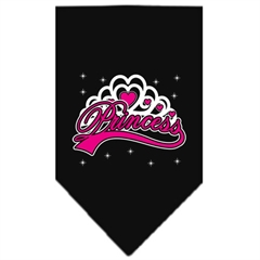 Mirage Pet Products I'm a Princess Screen Print Bandana Black Small