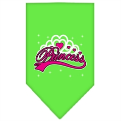 Mirage Pet Products I'm a Princess Screen Print Bandana Lime Green Small