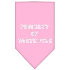 Mirage Pet Products Property of North Pole Screen Print Bandana Light Pink Large