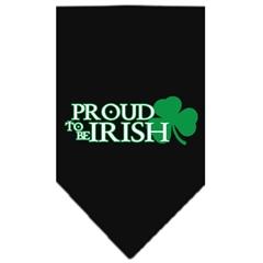 Mirage Pet Products Proud to be Irish Screen Print Bandana Black Large