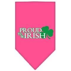 Mirage Pet Products Proud to be Irish Screen Print Bandana Bright Pink Small