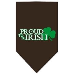 Mirage Pet Products Proud to be Irish Screen Print Bandana Cocoa Large