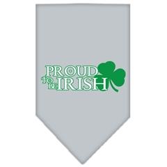 Mirage Pet Products Proud to be Irish Screen Print Bandana Grey Large