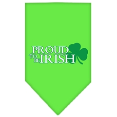 Mirage Pet Products Proud to be Irish Screen Print Bandana Lime Green Small