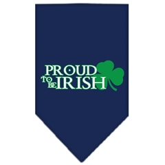 Mirage Pet Products Proud to be Irish Screen Print Bandana Navy Blue Small