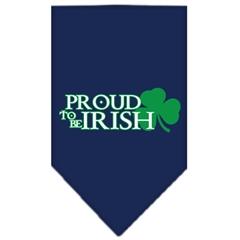 Mirage Pet Products Proud to be Irish Screen Print Bandana Navy Blue large