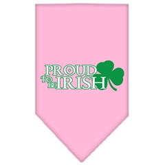 Mirage Pet Products Proud to be Irish Screen Print Bandana Light Pink Large
