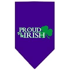 Mirage Pet Products Proud to be Irish Screen Print Bandana Purple Large