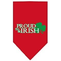Mirage Pet Products Proud to be Irish Screen Print Bandana Red Large
