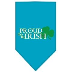 Mirage Pet Products Proud to be Irish Screen Print Bandana Turquoise Large