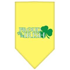 Mirage Pet Products Proud to be Irish Screen Print Bandana Yellow Large