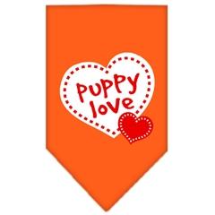 Mirage Pet Products Puppy Love Screen Print Bandana Orange Small