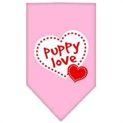 Mirage Pet Products Puppy Love Screen Print Bandana Light Pink Large