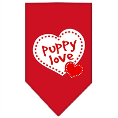 Mirage Pet Products Puppy Love Screen Print Bandana Red Small