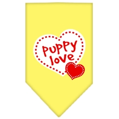 Mirage Pet Products Puppy Love Screen Print Bandana Yellow Large