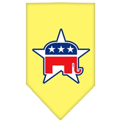 Mirage Pet Products Republican Screen Print Bandana Yellow Large