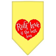 Mirage Pet Products Ruff Love Screen Print Bandana Yellow Large