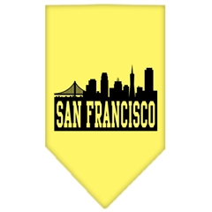 Mirage Pet Products San Francisco Skyline Screen Print Bandana Yellow Small