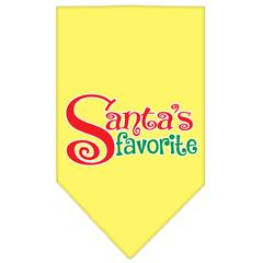 Mirage Pet Products Santas Favorite Screen Print Pet Bandana Yellow Size Small
