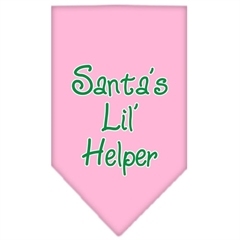 Mirage Pet Products Santa Lil Helper Screen Print Bandana Light Pink Small