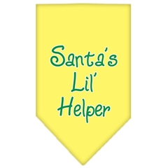 Mirage Pet Products Santa Lil Helper Screen Print Bandana Yellow Small