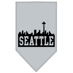 Mirage Pet Products Seattle Skyline Screen Print Bandana Grey Large