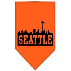 Mirage Pet Products Seattle Skyline Screen Print Bandana Orange Large