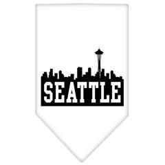 Mirage Pet Products Seattle Skyline Screen Print Bandana White Small