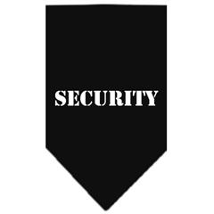 Mirage Pet Products Security  Screen Print Bandana Black Large
