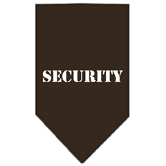Mirage Pet Products Security  Screen Print Bandana Cocoa Small