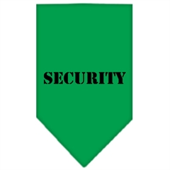Mirage Pet Products Security  Screen Print Bandana Emerald Green Small