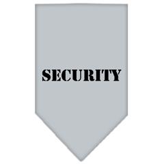 Mirage Pet Products Security  Screen Print Bandana Grey Large