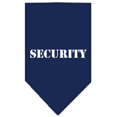 Mirage Pet Products Security  Screen Print Bandana Navy Blue large