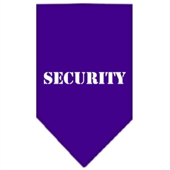 Mirage Pet Products Security  Screen Print Bandana Purple Small