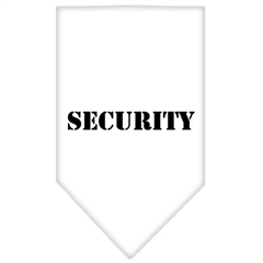 Mirage Pet Products Security  Screen Print Bandana White Small