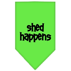 Mirage Pet Products Shed Happens  Screen Print Bandana Lime Green Small