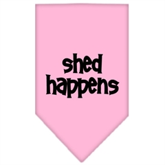 Mirage Pet Products Shed Happens  Screen Print Bandana Light Pink Large