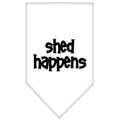 Mirage Pet Products Shed Happens  Screen Print Bandana White Small