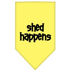 Mirage Pet Products Shed Happens  Screen Print Bandana Yellow Large