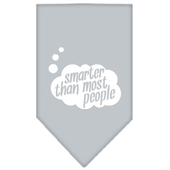 Mirage Pet Products Smarter then most People Screen Print Bandana Grey Large