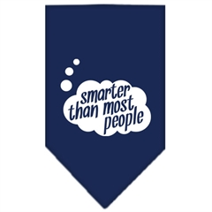 Mirage Pet Products Smarter then most People Screen Print Bandana Navy Blue Small