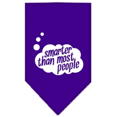 Mirage Pet Products Smarter then most People Screen Print Bandana Purple Small