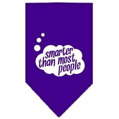 Mirage Pet Products Smarter then most People Screen Print Bandana Purple Large