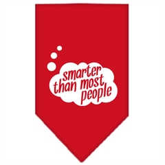 Mirage Pet Products Smarter then most People Screen Print Bandana Red Large