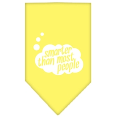 Mirage Pet Products Smarter then most People Screen Print Bandana Yellow Small