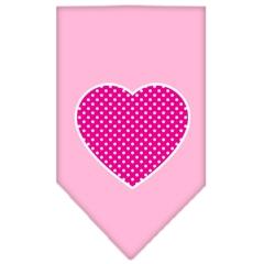 Mirage Pet Products Pink Swiss Dot Heart Screen Print Bandana Light Pink Small