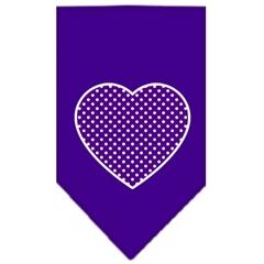 Mirage Pet Products Purple Swiss Dot Heart Screen Print Bandana Purple Small
