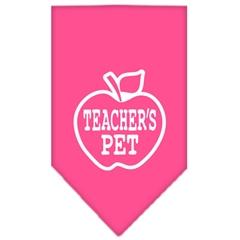 Mirage Pet Products Teachers Pet Screen Print Bandana Bright Pink Small