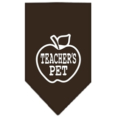 Mirage Pet Products Teachers Pet Screen Print Bandana Cocoa Large