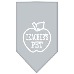 Mirage Pet Products Teachers Pet Screen Print Bandana Grey Small